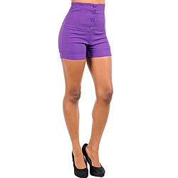 Purple High Waisted Shorts