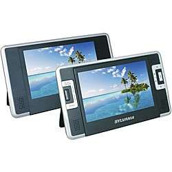 Sylvania SDVD8727 7-inch Dual-Screen Portable DVD Player (Refurbished)