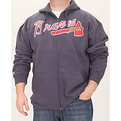 check out 5f30f d1415 Stitches Men's Atlanta Braves Full Zip Hoodie | Overstock.com Shopping -  The Best Deals on Baseball