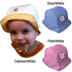 Dots on Tots Baby / Toddler Organic Cotton Reversible Sun Hat