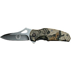Defender Camo 6-inch Mini Folding Spring-assisted Pocket Knife - Thumbnail 0