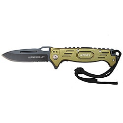 Defender Bronze 8.5-inch Lace Tie Folding Tactical Pocket Knife - Thumbnail 0