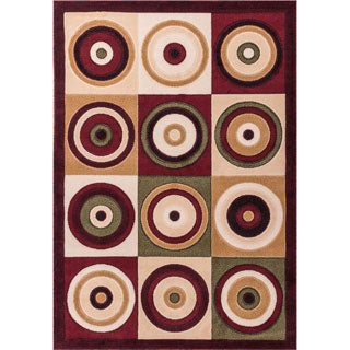 Squares and Circles Multi Area Rug (7'10 x 9'10)