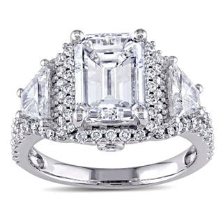 Miadora Signature Collection 14k White Gold 3 3/4ct TDW Certified Emerald Diamond Ring|https://ak1.ostkcdn.com/images/products/P14259577p.jpg?impolicy=medium