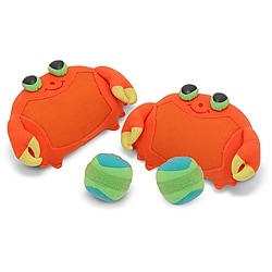 Melissa & Doug Clicker Crab Self-stick Toss & Grip Mitts and Balls Set