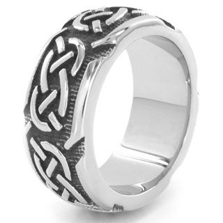 Stainless Steel Woven Pattern Ring