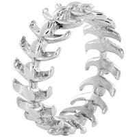 Stainless Steel Vertebrae Loop Ring