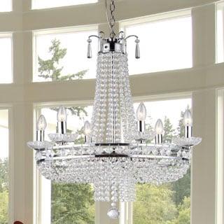 Crystal Chrome Finish Pendant Lamp