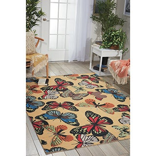 Nourison Home and Garden Yellow Rug (7'9 x 10'10)