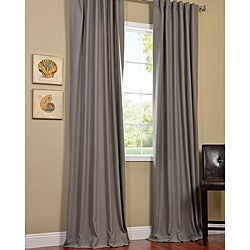 Thumbnail 1, Exclusive Fabrics Cotenza Steel Grey Faux Cotton Curtain Panel.