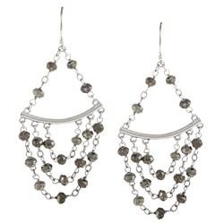 Zoe B Sterling Silver Pyrite Chandelier Earrings