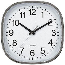 Geneva Chrome 12 Inch Wall Clock Overstock 6751304