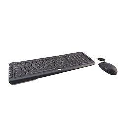 shop hp debranded black silver wireless multimedia keyboard and mouse combo refurbished. Black Bedroom Furniture Sets. Home Design Ideas