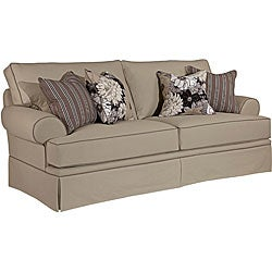 Broyhill Emma II Khaki Queen Sofa Sleeper Free Shipping Today Overstock