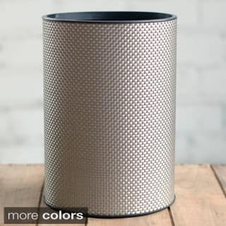 LaMont Home 1530 Basketweave Round Wastebasket|https://ak1.ostkcdn.com/images/products/P14296543L.jpg?impolicy=medium
