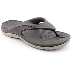 1aec0cefacccb5 Shop Crocs Men s Duet Athens Brown Sandals - Free Shipping On Orders ...