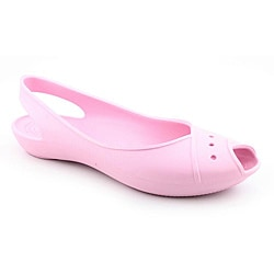 shop crocs women's lady pink casual shoes  overstock