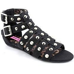 Betsey Johnson Women's Aeroo Black Sandals