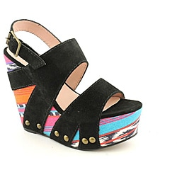 Betsey Johnson Women's Ajaya Black Sandals