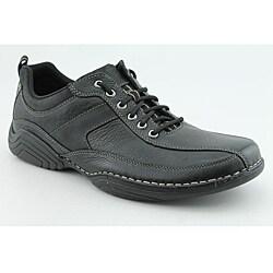 shop rockport men's claymon black casual shoes size 12