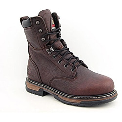 """Rocky Men's 8"""" IronClad Brown Boots Wide (Size 11)"""