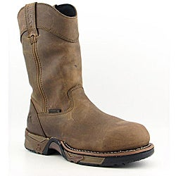 """Rocky Men's 11"""" Pull-on Aztec Brown Boots Wide (Size 8)"""