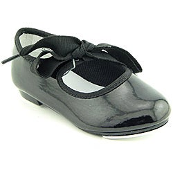 Dance Class By Trimfoot Company Girl's Beginning Tap Shoe Black Athletic