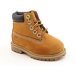 """Timberland Boy's 6"""" Premium Waterproof Beige Boots"""