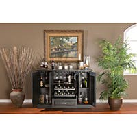 Anitque Black Finish 60-inch Charlotte Home Bar