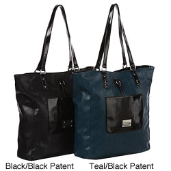 Shop Kenneth Cole Reaction Colorblock Patent Tote Bag