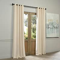 EFF Ivory Grommet Velvet Blackout Curtain Panel
