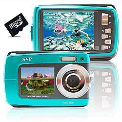 Aqua 5500 18MP Dual Screen Waterproof Blue Digital Camera https://ak1.ostkcdn.com/images/products/P14321442.jpg?impolicy=medium