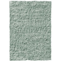 Shop Hand Tufted Jade Green Shag Rug 5 3 X 7 7 Free