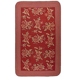 Manitou Flat-weave Floral Rug (5' x 8')