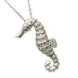 Beverly Hills Charm  Silver 1/10ct TDW Diamond Seahorse Necklace (H-I, I2-I3)