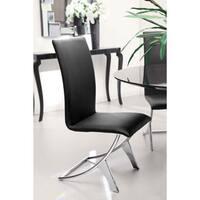 Oliver & James Murray Chrome Espresso Dining Chair (Set of 2)
