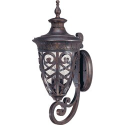 Aston Arm Up 3-light Dark Plum Bronze Wall Sconce
