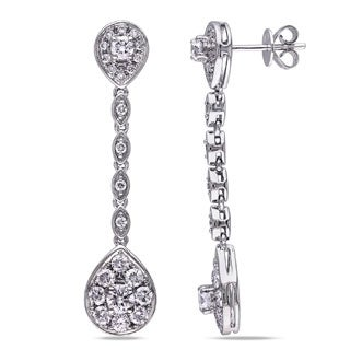 Miadora Signature Collection 14k White Gold 1 7/8ct TDW Diamond Drop Earrings (G-H, SI1-SI2)