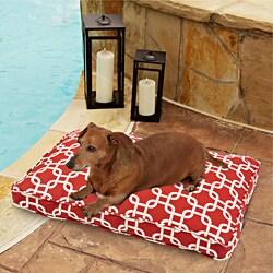 Sweet Dreams Indoor/ Outdoor Chain link Red Pet Bed