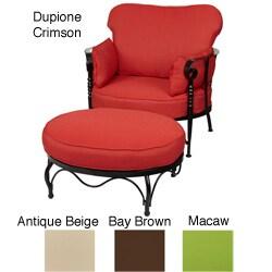 Bella Sunbrella Chair/ Ottoman Cushion Set