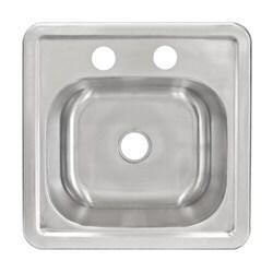 LessCare LT62 Top Mount Single Bowl 304 Stainless Steel Sink 20 Gauge