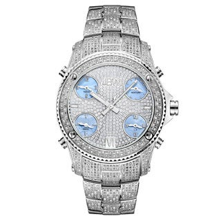 JBW Men's 'Jet Setter' Stainless Steel Diamond Watch