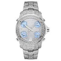 JBW Men's 'Jet Setter' Stainless Steel Diamond Watch