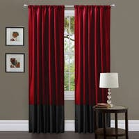 Clay Alder Home Frisco Red/ Black Milione Fiori 84-inch Curtain Panel Pair