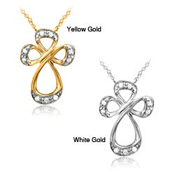 Bridal Symphony 10k Gold Diamond Accent Cross Pendant