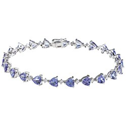 D'Yach 14k White Gold Tanzanite and 3/5ct TDW Diamond Bracelet (G-H, I1-I2)