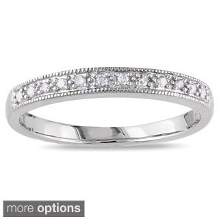 Miadora 10k Gold 1/10ct TDW Diamond Wedding Band (H-I, I2-I3)