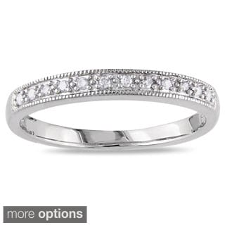 Miadora 10k Gold 1/10ct TDW Diamond Wedding Band