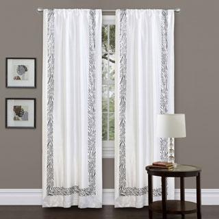 "Lush Decor Grey Urban Savanna 84-inch Curtain Panel - 42""w x 84""l"