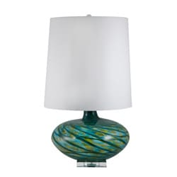 Blue Swirl Glass Lamp